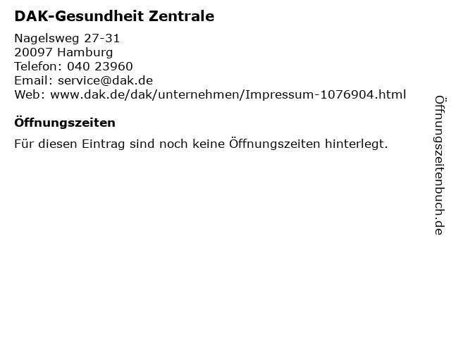 DAK-Gesundheit Zentrale in Hamburg: Adresse und Öffnungszeiten