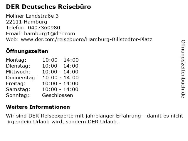 DER Deutsches Reisebüro in Hamburg: Adresse und Öffnungszeiten