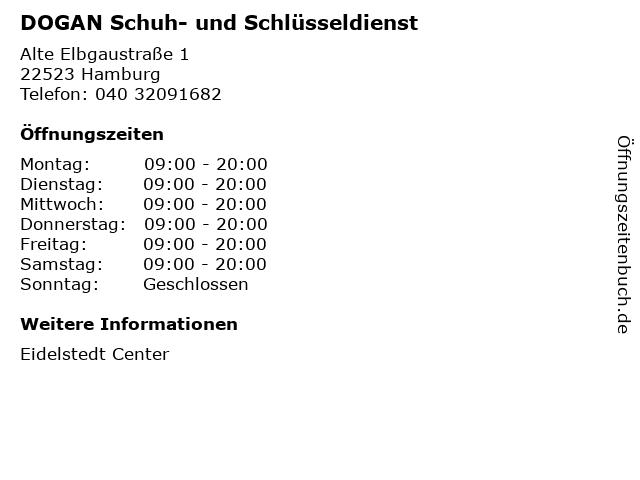 DOGAN Schuh- und Schlüsseldienst in Hamburg: Adresse und Öffnungszeiten