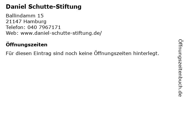 Daniel Schutte-Stiftung in Hamburg: Adresse und Öffnungszeiten