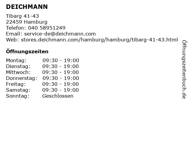Deichmann SE in Hamburg: Adresse und Öffnungszeiten