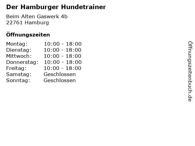 Der Hamburger Hundetrainer in Hamburg: Adresse und Öffnungszeiten
