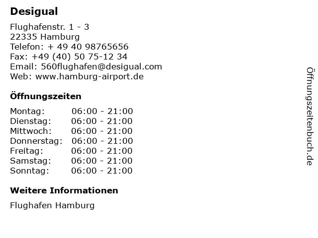 Desigual in Hamburg: Adresse und Öffnungszeiten