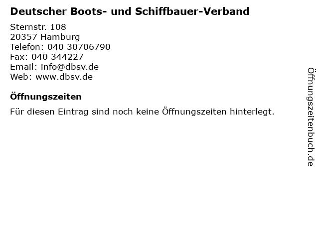 Deutscher Boots- und Schiffbauer-Verband in Hamburg: Adresse und Öffnungszeiten