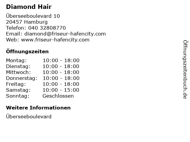 Diamond Hair in Hamburg: Adresse und Öffnungszeiten