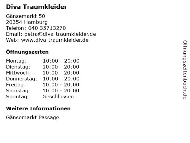 Diva Traumkleider in Hamburg: Adresse und Öffnungszeiten