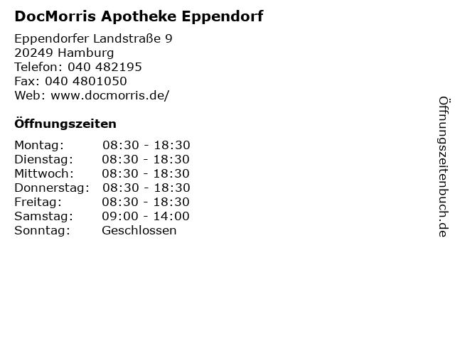 DocMorris Apotheke Eppendorf in Hamburg: Adresse und Öffnungszeiten