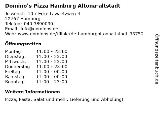 Domino's Pizza Hamburg Altona-altstadt in Hamburg: Adresse und Öffnungszeiten