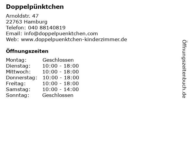Doppelpünktchen in Hamburg: Adresse und Öffnungszeiten