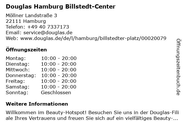 Parfümerie Douglas Hamburg Billstedt in Hamburg: Adresse und Öffnungszeiten