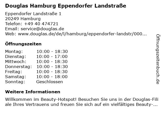Parfümerie Douglas Hamburg Eppendorf in Hamburg: Adresse und Öffnungszeiten