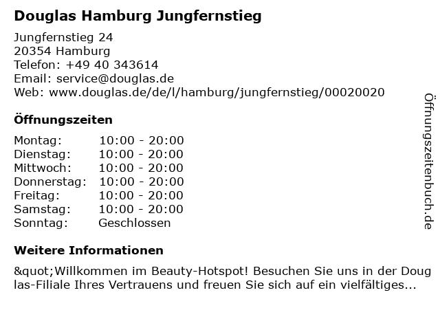 Douglas Hamburg Jungfernstieg in Hamburg: Adresse und Öffnungszeiten