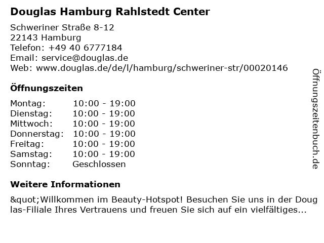 Parfümerie Douglas Hamburg Rahlstedt in Hamburg: Adresse und Öffnungszeiten