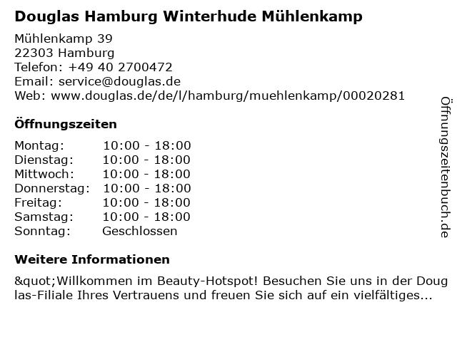Parfümerie Douglas Hamburg Winterhude in Hamburg: Adresse und Öffnungszeiten