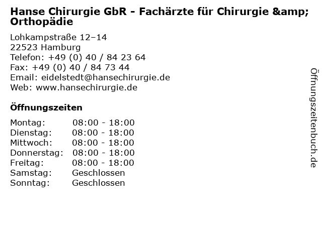 Dr. med. Gunnar Badorreck in Hamburg: Adresse und Öffnungszeiten