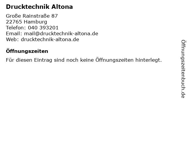Drucktechnik Altona in Hamburg: Adresse und Öffnungszeiten