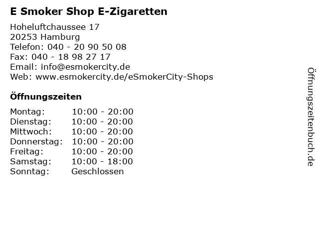 E Smoker Shop E-Zigaretten in Hamburg: Adresse und Öffnungszeiten