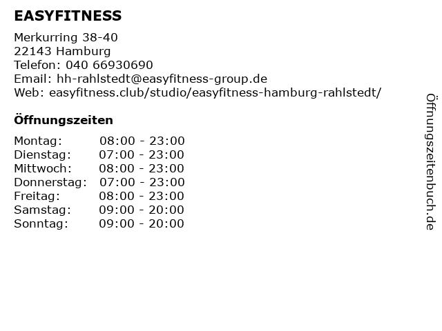 ᐅ Offnungszeiten Easyfitness Merkurring 38 40 In Hamburg