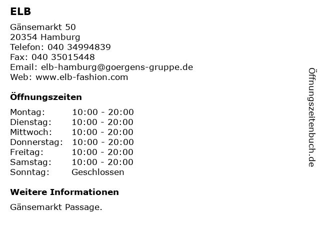 ELB in Hamburg: Adresse und Öffnungszeiten