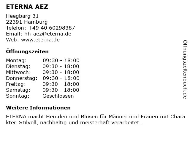 ETERNA Brand Store in Hamburg: Adresse und Öffnungszeiten