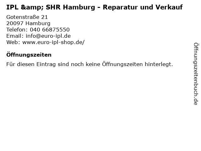 EURO-IPL in Hamburg: Adresse und Öffnungszeiten