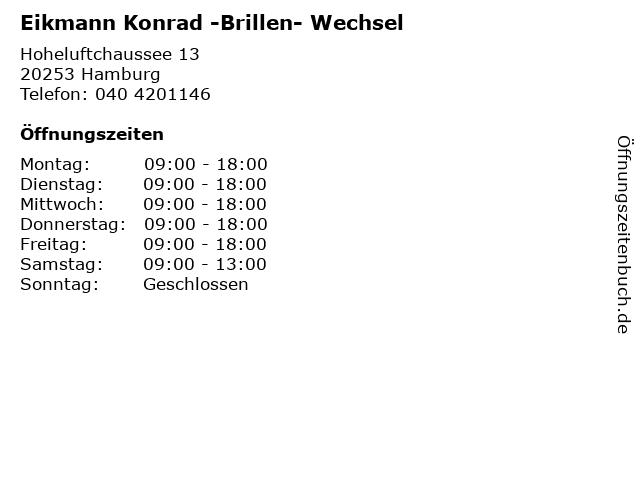 Eikmann Konrad -Brillen- Wechsel in Hamburg: Adresse und Öffnungszeiten