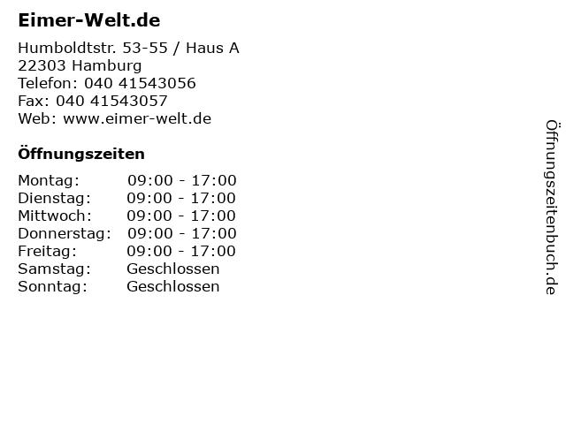 Eimer-Welt.de in Hamburg: Adresse und Öffnungszeiten