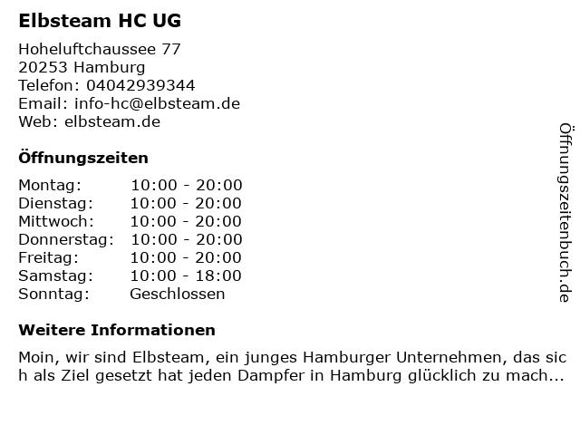 Elbsteam HC UG in Hamburg: Adresse und Öffnungszeiten