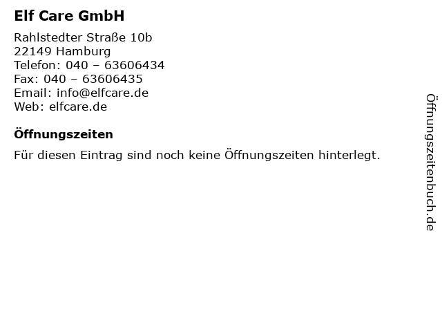 Elf Care GmbH in Hamburg: Adresse und Öffnungszeiten