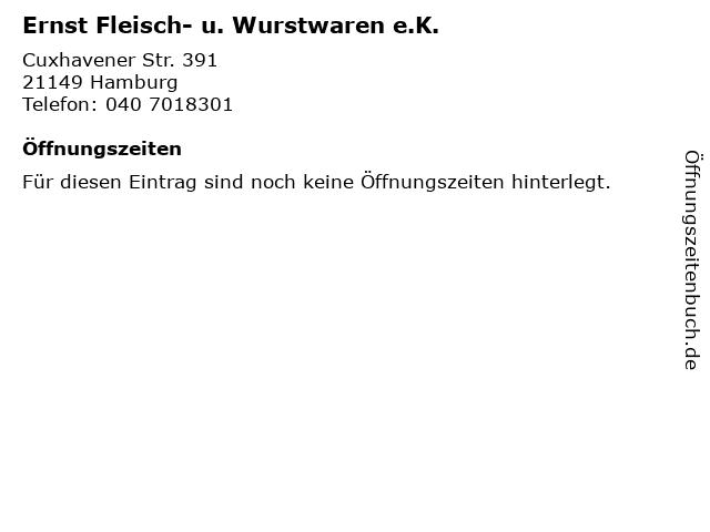 Ernst Fleisch- u. Wurstwaren e.K. in Hamburg: Adresse und Öffnungszeiten