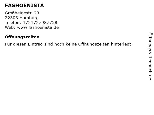 FASHOENISTA in Hamburg: Adresse und Öffnungszeiten
