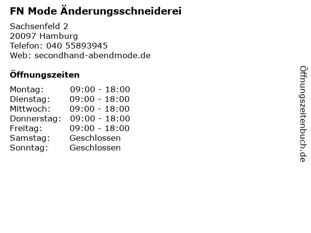 FN Mode Änderungsschneiderei in Hamburg: Adresse und Öffnungszeiten