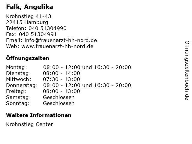 Falk, Angelika in Hamburg: Adresse und Öffnungszeiten