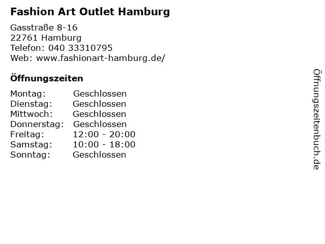 Fashion Art Outlet Hamburg in Hamburg: Adresse und Öffnungszeiten