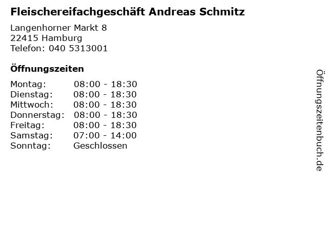 Fleischereifachgeschäft Andreas Schmitz in Hamburg: Adresse und Öffnungszeiten