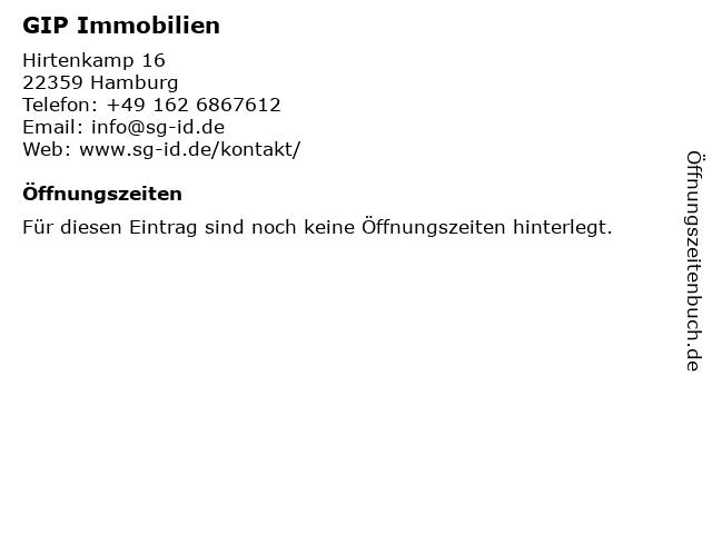 GIP Immobilien in Hamburg: Adresse und Öffnungszeiten