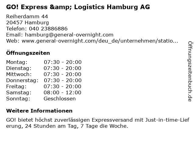 GO! Express & Logistics Hamburg AG in Hamburg: Adresse und Öffnungszeiten