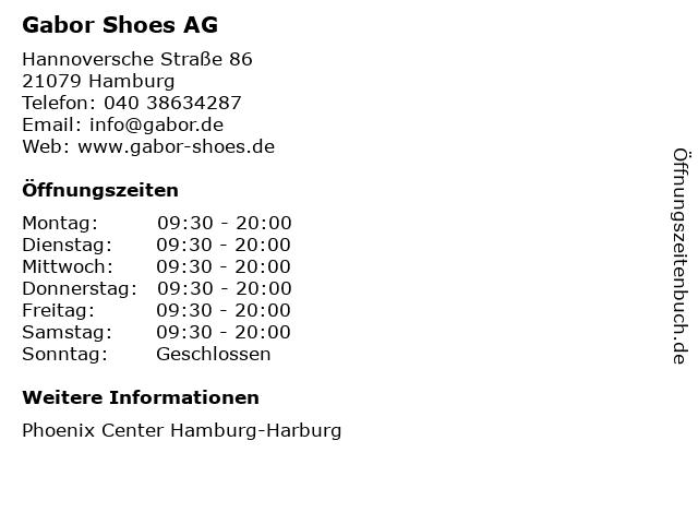 Gabor Shoes AG in Hamburg: Adresse und Öffnungszeiten