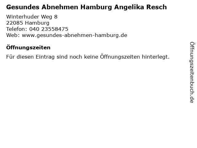 Gesundes Abnehmen Hamburg Angelika Resch in Hamburg: Adresse und Öffnungszeiten