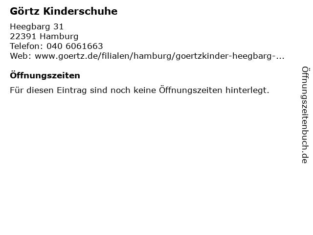 Görtz Kinder! in Hamburg: Adresse und Öffnungszeiten