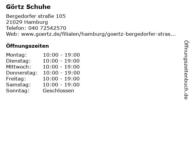 Görtz GmbH in Hamburg: Adresse und Öffnungszeiten