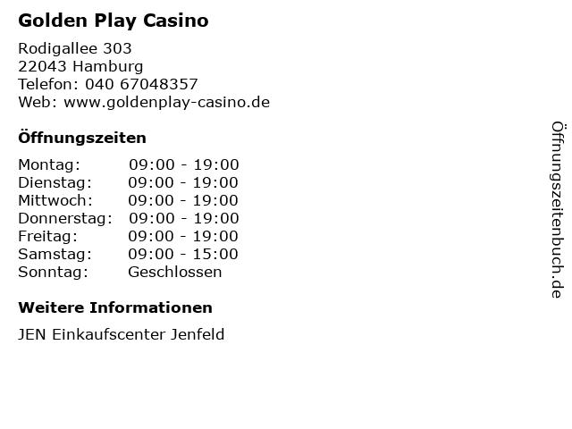 Golden Play Casino in Hamburg: Adresse und Öffnungszeiten