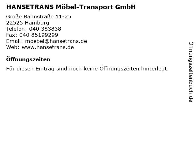 HANSETRANS Möbel-Transport GmbH in Hamburg: Adresse und Öffnungszeiten