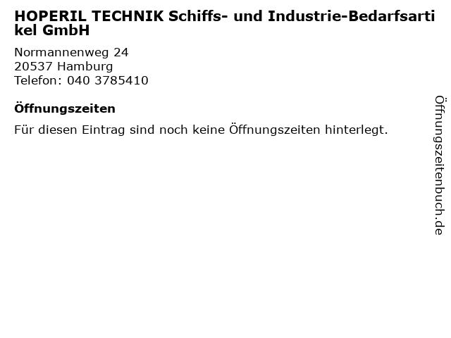 HOPERIL TECHNIK Schiffs- und Industrie-Bedarfsartikel GmbH in Hamburg: Adresse und Öffnungszeiten