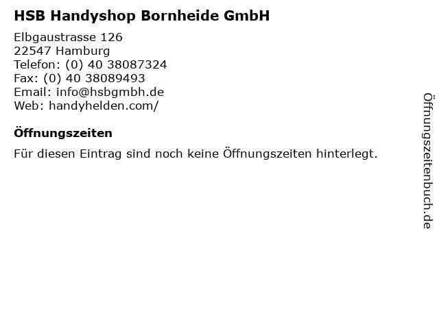 HSB Handyshop Bornheide GmbH in Hamburg: Adresse und Öffnungszeiten