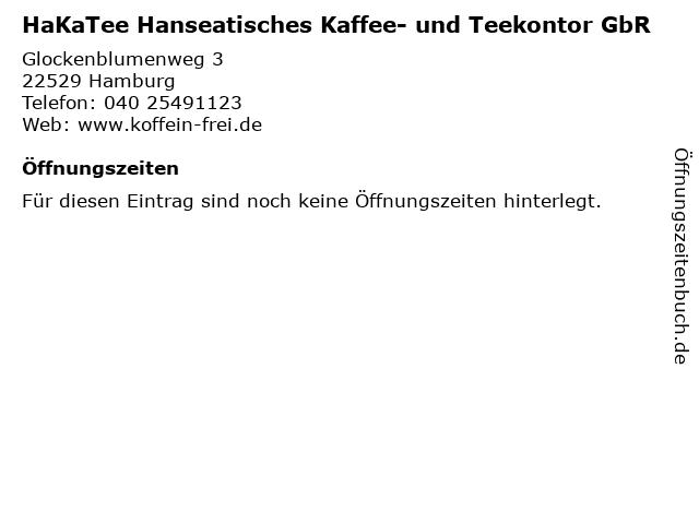 HaKaTee Hanseatisches Kaffee- und Teekontor GbR in Hamburg: Adresse und Öffnungszeiten