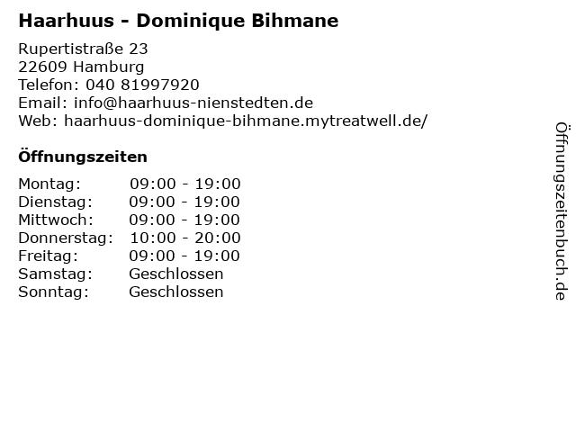 Haarhuus - Dominique Bihmane in Hamburg: Adresse und Öffnungszeiten