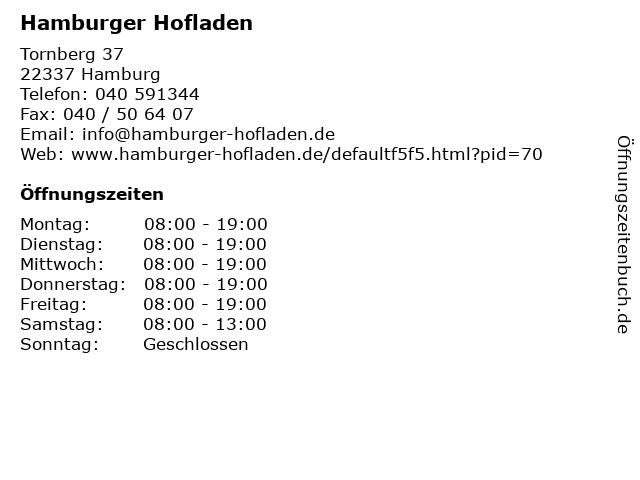 Hamburger Hofladen in Hamburg: Adresse und Öffnungszeiten