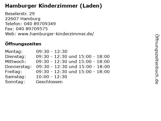 Hamburger Kinderzimmer (Laden) in Hamburg: Adresse und Öffnungszeiten
