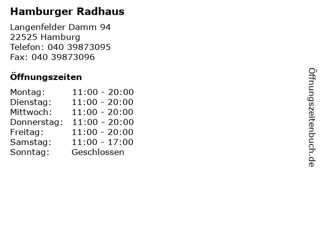 Hamburger Radhaus in Hamburg: Adresse und Öffnungszeiten